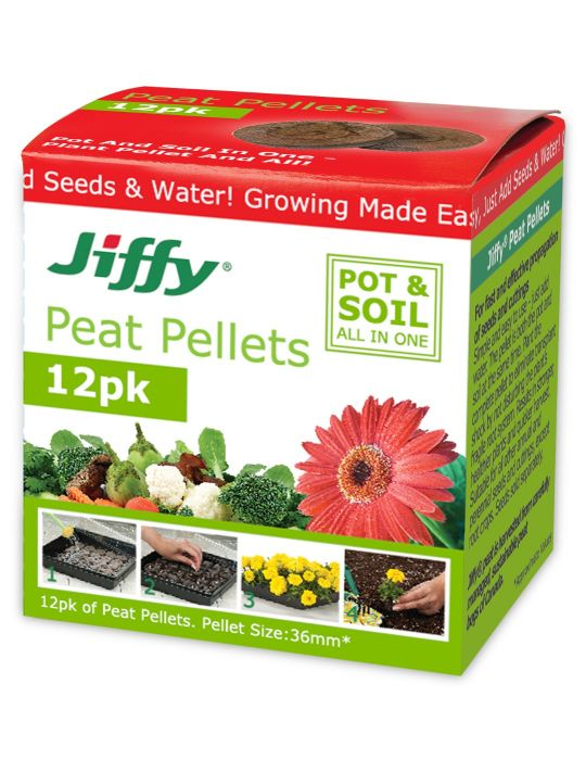 Jiffy 36mm Peat Pellets (box of 12)