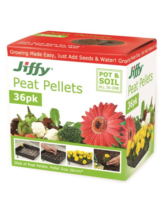 Jiffy 36mm Peat Pellets (box of 36)